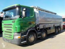 Scania R400-8X2-LENKACHSE-3 KAMMERN-32000L truck used tanker