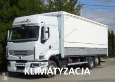 Camion centinato alla francese Renault Premium 370 DXI Glob 3 osie Firanka, winda 20 palet