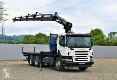 Camion Scania P340 Pritsche 6,50m +HIAB 144E-4HIDUO + FUNK/6x4 cassone usato