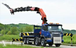 Vrachtwagen Scania P420 + PK 72002 + JIB PJ170 + FUNK / 8x4 ! tweedehands platte bak