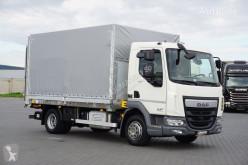 Ciężarówka DAF LF / 230 / EURO 6 / SKRZYNIOWY + WINDA / 10 PALET / ŁAD. 6744 KG Plandeka używana