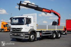 Camión caja abierta MERCEDES-BENZ / AXOR / 2633 / E 5 / SKRZYNIOWY + HDS / MANUAL / ROTATOR / PILO