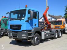 Camion MAN TGS TG-S 26.440 6x4 Abrollkipper Deutsch, Hiab, Topzustand polybenne occasion