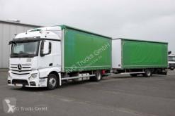 Camion remorque savoyarde système bâchage coulissant Mercedes L Durchladezug Schiebeplane Retarder LBW
