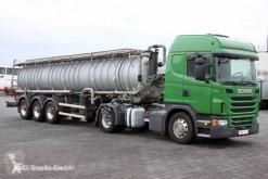 Maquinaria vial Scania G 480 E6 Edelstahl-Sau- und Druckauflieer 8mm camión limpia fosas usado