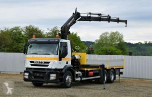 Камион Iveco Stralis 420 PRITSCHE 7,10m + HIAB 220C+FUNK платформа втора употреба