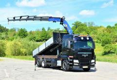 Ciężarówka platforma MAN TGS 26.440 + PM SERIE 22 SP - 22026 SP + FUNK !