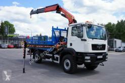 Camion plateau MAN TGM 18.250 4x4 Palfiner PK 27001 Crane Off R