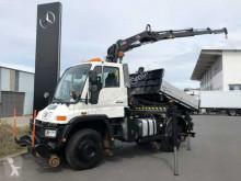 Unimog U400 U400 4x4 Zweiwege Kipper Kran Funk 2x AHK truck used tipper
