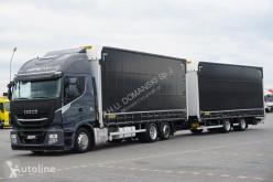 Camion Iveco Stralis / 460 XP / HI-WAY / ACC / EURO 6 / ZESTAW PRZESTRZENNY12 + remorque rideaux coulissants Teloni scorrevoli (centinato) usato