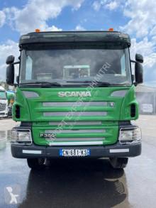 Scania P 380 truck used concrete mixer + pump truck concrete