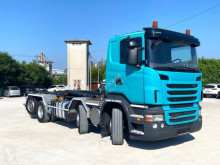 Camión Scania R420 BALESTRATO ANTERIORE E PNEUMATICO POST Gancho portacontenedor usado