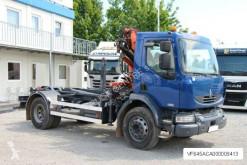 Camión Renault MIDLUM 220.14, CRANE (3000 KG), ROLL-OFF TIPPER Gancho portacontenedor usado