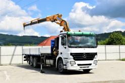 Camión Mercedes ACTROS 2536 Pritsche 8,80m +EFFER 170 3S-CL+FUNK caja abierta usado