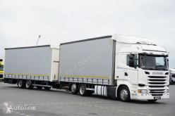 Camion Scania R 450 / ACC / EUO 6 / ZESTAW PZESTZENNY 120 M3 + emoque ideaux coulissants Teloni scorrevoli (centinato) usato