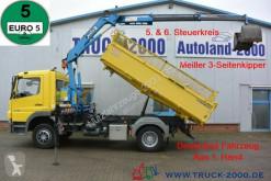 Mercedes Atego 1318 Meiller Kran 7.25m = 960 kg 1.Hd R-CD LKW gebrauchter Pritsche
