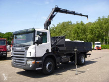 Camion cassone fisso Scania P280 LB Flatbed truck with crane