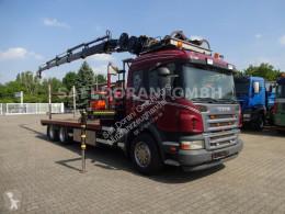Camión caja abierta Scania P P420 Pritsche + HIAB 166DS + 4x Hydr. Ausschub