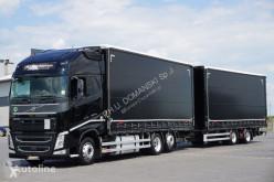Camion Volvo FH / 500 / XXL / ACC / EURO 6 / ZESTAW PRZEJAZDOWY 120 M3 + remorque rideaux coulissants rideaux coulissants (plsc) occasion