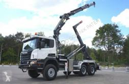 Camion Scania Scania P 400 6x6 Crane Kran HMF 2020 Hooklift . scarrabile usato