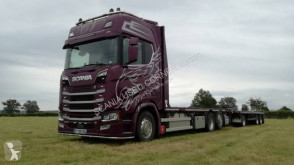 Camión Scania S caja abierta transporta paja usado