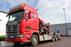 Camião Palfinger Scania R 450 Crane truck 8x4*4 PK65002 estrado / caixa aberta caixa aberta usado