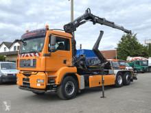 Kamión MAN TG-A 26.400 6x2-2 BL Abrollkipper mit Kran Funkfernbed. hákový nosič kontajnerov ojazdený