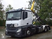 Camión Gancho portacontenedor Mercedes Actros 2545 6x2 EURO6 Abrollkipper Palfinger 22T