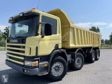 Camion benne Scania P124.420 8x4 FULL STEEL MANUAL HUBREDUCTION MULDEN
