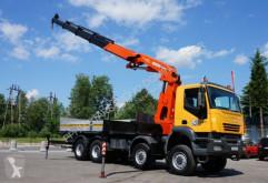 Camión caja abierta Iveco TRAKKER AD 410 8x8 Palfinger PK 44002 Crane Kran
