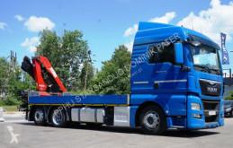 Camião MAN MAN TGX 24.440 6x2 HMF 1820 Crane Kran estrado / caixa aberta usado