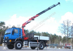 Camion MAN L2000 4x4 HMF 2120 Crane Kran Winch Off Road ... plateau occasion
