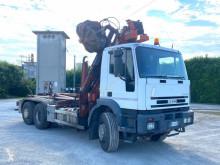 Camión Iveco Eurotech 260E35 SCARRABILE BALESTRATO ANTERI Gancho portacontenedor usado