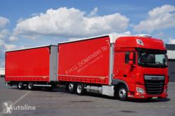 Caminhões DAF 106 / 460 / SSC / ACC / EURO 6 / ZESTAW PRZEJAZDOWY 120 M3 + remorque rideaux coulissants cortinas deslizantes (plcd) usado