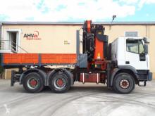 Iveco flatbed truck 440 6X4 PALFINGER 44002+JIB AÑO 2004