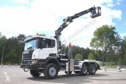 Camión caja abierta Scania Scania P 400 6x6 Crane Kran HMF 2020 Hooklift .