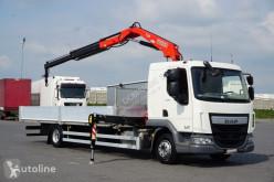 Camión DAF LF / 230 / EURO 6 / SKRZYNIOWY + HDS / ROTATOR / JAK NOWY caja abierta usado