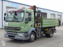 Camión volquete volquete trilateral DAF LF55 LF 55.250*Euro5*TÜV*Palfinger PK8502 Kran*Klima*