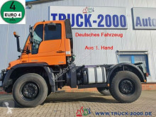 Unimog alváz teherautó U400 U 400 4x4 Zapfwelle Wechsellenkung Mähsitz Klima
