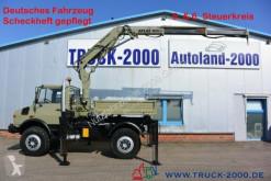 Teherautó Unimog U1650 U1650 Kipper Atlas 100.1 Kran 5.&6. Steuerkreis használt billenőkocsi