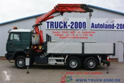 Lastbil MAN 28.464 6x4 Fassi F300 - 25 m Hakenhöhe Intarder platta häckar begagnad