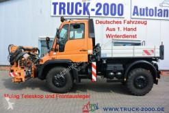 Camión Camion Unimog U400 U400 4x4 Teleskop + Frontausleger Wechsellenkung