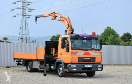 Ciężarówka MAN LE 8.185 Pritsche 6,20m + HLK 80a1S0 platforma używana