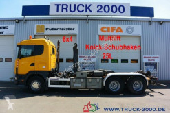 Camión Scania G 124G470 6x4 Multilift Knick- Schub Haken 25 to. Gancho portacontenedor usado