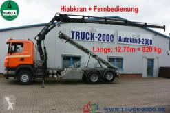 Camión Gancho portacontenedor Scania R R 340 Seil-Abrollkipper mit Hiab Ladekran + FB