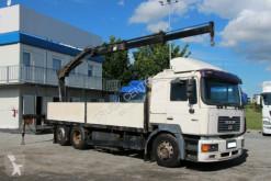 Camión caja abierta MAN 23.414, 6x2, CRANE/KRAN HIAB 102 (3900 KG)