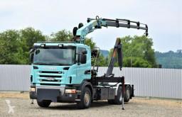 Camión multivolquete Scania R420 Abrollkipper 5,40m + HMF 1680 K4 + FUNK!