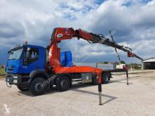 Lastbil flatbed sidetremmer Iveco Trakker 450