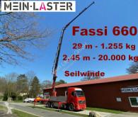 Camion plateau ridelles Volvo FH16 FH16 Fassi 660 JIB 29 m 1.250 kg Seilwinde Funk