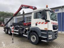 Camion polybenne MAN TGS 26.360 6x2 Abrollkipper + Kran HMF 8,2 m
